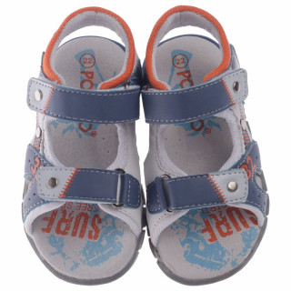 POLLINO STRADA SANDALA HLL25308 BLUE/WHITE/ORANGE